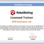 ArbitrageTraining - RebelBetting and MatchedBetting certificate of training