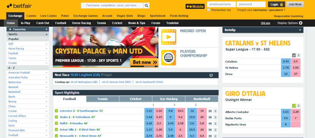 Sports arbitrage betting - exchange - Betfair